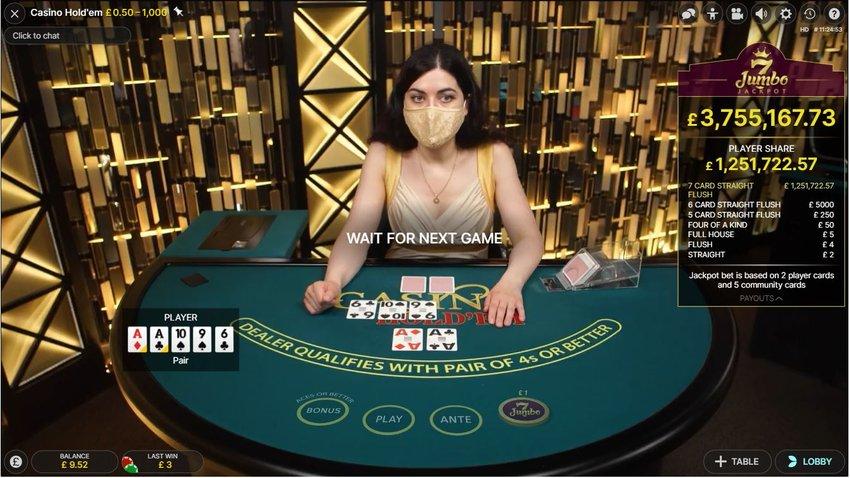 Live Casino Holdem Interface