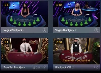 Live Blackjack Betting Limits