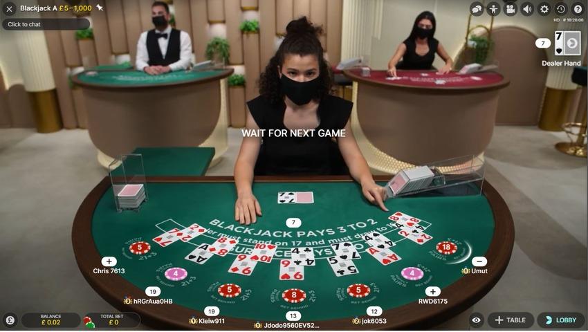 Live Blackjack Real Cards