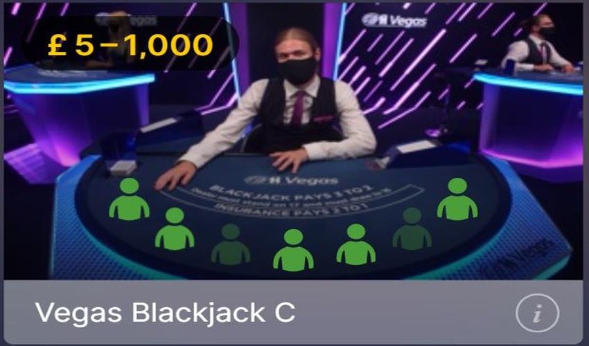 Live Casino Blackjack Seats