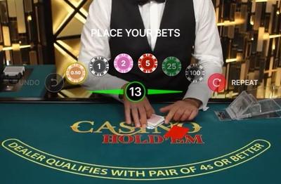 Live Casino Holdem Bets