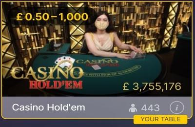 Live Casino Holdem Tile