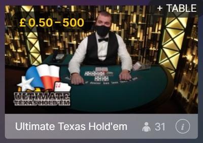 Texas Holdem Live Bet Limits
